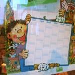 Der schön große Kalender für 2011 von Lutz Mauder im Fenster